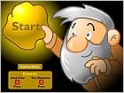 黄金矿工-游戏道具:按↓键来开始拉金子.红色的炸..