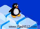 企鹅摆冰块过河