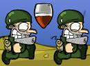 士兵快跑躲避炸弹