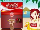 给美女打杯可乐喝!