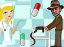 护士喂哈里森吃药丸!