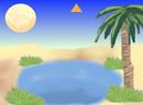 逃出月色小湖沙漠