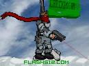 雪地红围巾战士