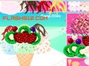 装饰水果冰淇淋