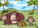 小猴子偷食香蕉