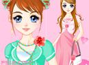 粉红色小花裙