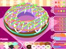 洒彩糖的甜甜圈