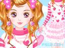 粉红蕾丝纱裙
