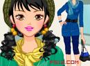 针织衫韩式美女