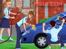 洗车赚钱救学校