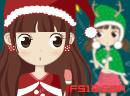 圣诞节漂亮娃娃