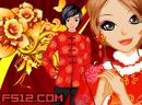 春节情侣红装拜年