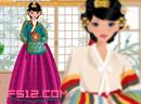 Wearing Korean Hanbok