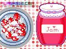 煮草莓果酱