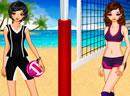性感沙滩网球女孩