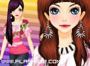 Pink Flower Dresses