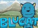 大嘴的蓝猫