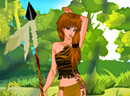 Cute Tribal Huntress