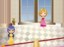 贵族少女玩跷跷板