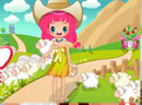 Cute Little Shepherdess