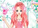 装扮动人的粉红公主