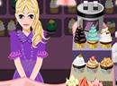 美女杯形蛋糕店