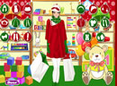 圣诞美女购物狂