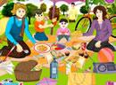 全家开心去野餐