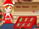 小美女做圣诞甜饼