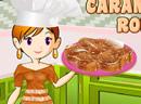 莎拉教你做焦糖肉卷