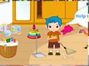 清扫儿童房间