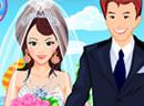 海滩上婚礼的新娘