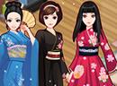 日本古风和服少女