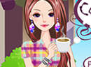 Coffee Girl Dress Up Game