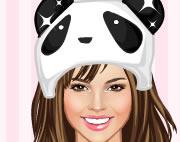 可爱熊猫美女