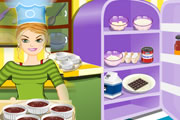 美女厨做巧克力慕斯