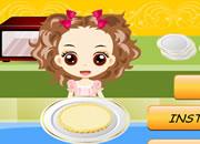 小美妞做蛋糕派