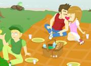 郊外野餐的偷吻