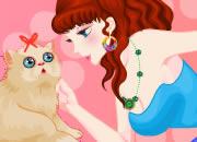 公主说:猫咪,你要乖哦~