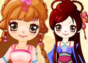 可爱中国古装娃娃