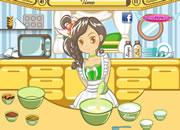 少女学做花生奶油蛋糕