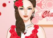 迷人红色时尚新娘