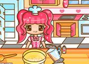 可爱美女小厨师