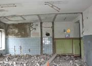 逃出倒塌的砖房