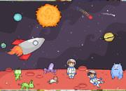 设计外星空间-由你的想象可以任意布置提供的宇航员,外星..