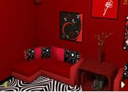 逃出红色神秘房间