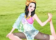 时尚瑜珈少女