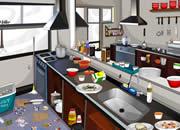 打扫快餐厅厨房
