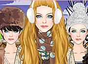 可爱韩版冬装少女
