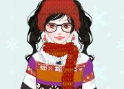 可爱少女圣诞节扮靓
